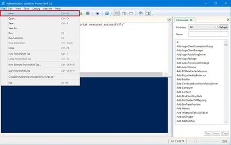 Tạo Script bằng Integrated Scripting Environment