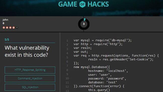 Game of Hacks