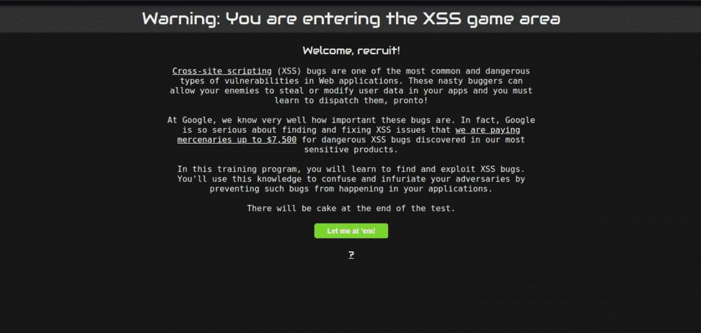 XSS game