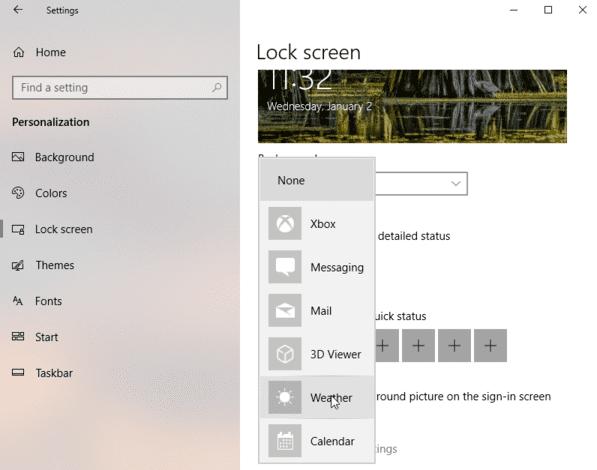 chọn ứng dụng hiển thị windows 10