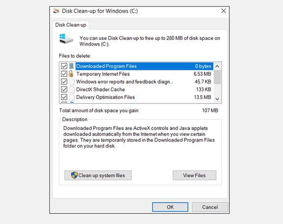Disk Clean-Up dọn rác máy tính
