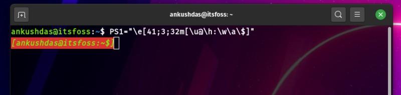 thêm màu bảng điều khiển dòng lệnh linux