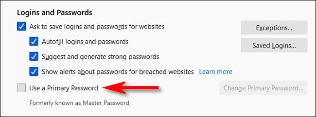 How to Secure Firefox's Password Manager