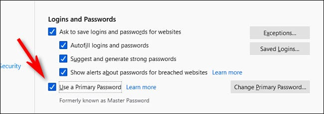 Use a Primary Password