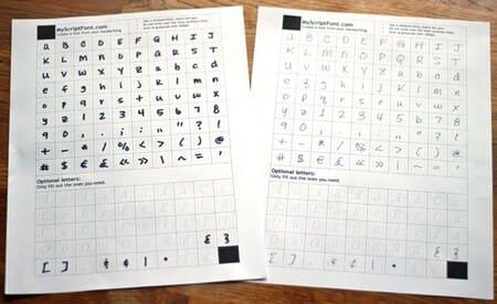 Tự tạo Font riêng bằng Chữ Viết tay của bạn 9