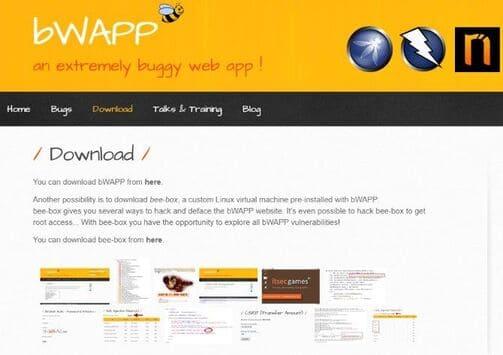 bWAPP bài tập hack tấn công website