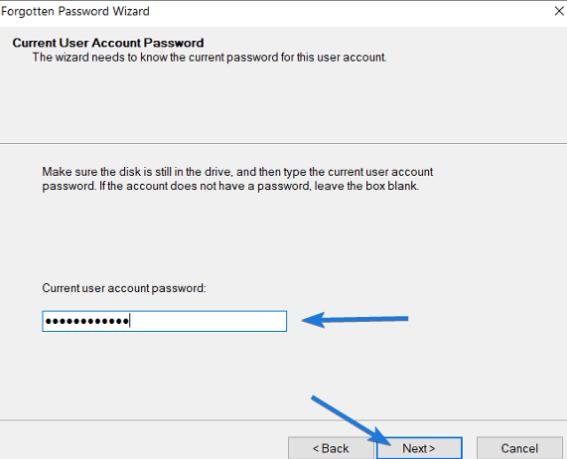 nhập Password hiện tại