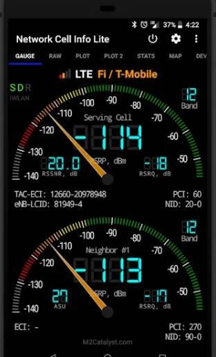 Ứng dụng WiFi tốt nhất của mạng di động Network Cell Info Lite