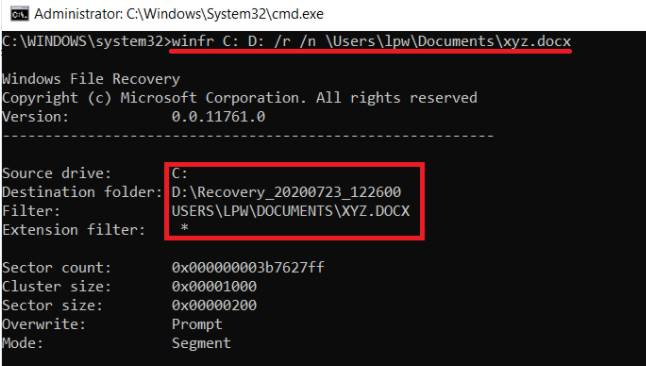 Lấy lại dữ liệu bị xóa trên Windows 10 bằng Windows File Recovery 6