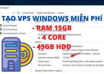 Cách tạo VPS Windows 15GB RAM miễn phí của Google 4