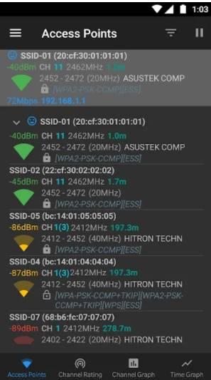 WiFi Analyzer open source