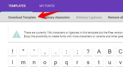 download template font chữ viết tay riêng