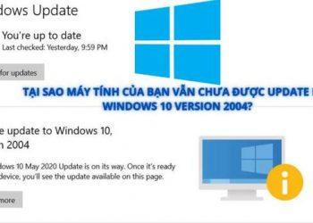 khong update duoc windows 10 2004