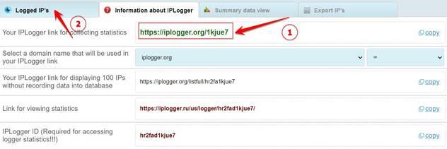 dùng iplogger lấy IP người khác