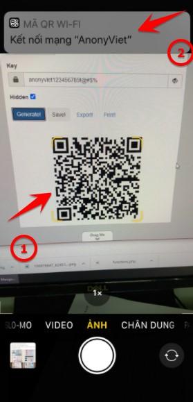 Cách Tạo mã QR kết nối Wifi không cần đưa Password cho khách 5