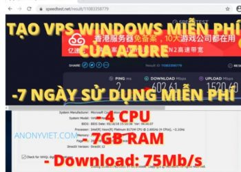 tao vps windows azure devops 7gb 7 ngay free