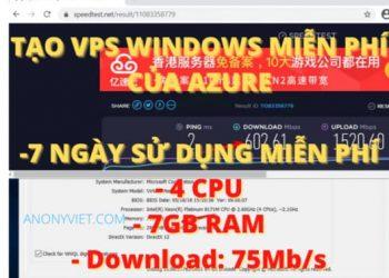 tao vps windows azure devops 7gb 7 ngay free