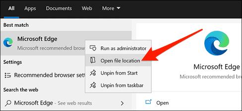 Tạo shortcut chế độ khách trên Microsoft Edge