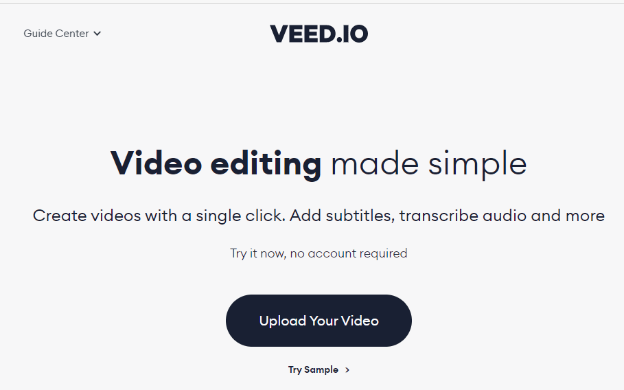 VEED - Online Video Editor - Video Editing Made Simple