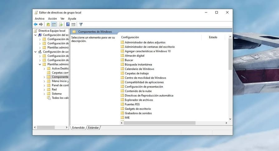 System Local Group Policy Editor