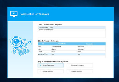 hack pass windows PassGeeker