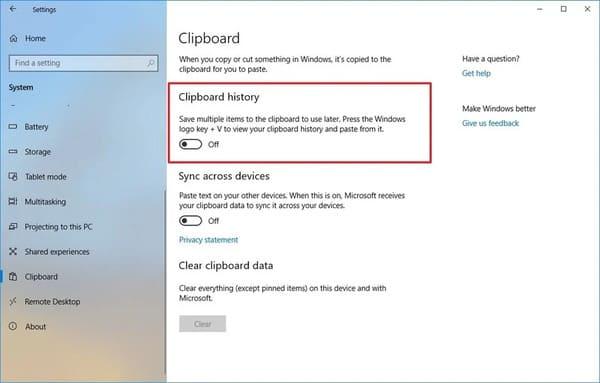 Tắt bộ nhớ tạm trên Windows 10