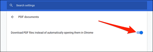 Download PDF files instead of automatically opening them in Chrome