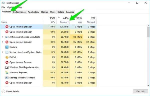 Cách khắc phục lỗi ngốn RAM trong Windows 10
