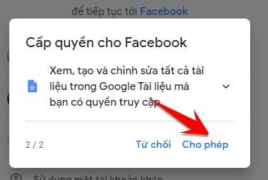 cap quyen facebook google tai lieu