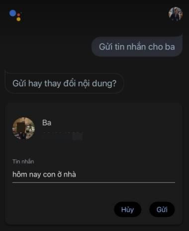 Cách gửi tin nhắn bằng trợ lý ảo Google Assistant