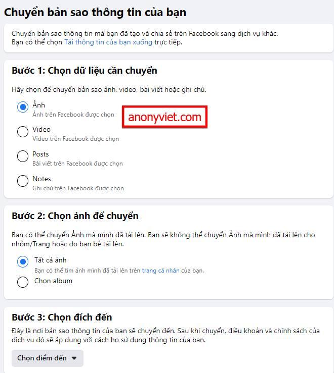 Hướng dẫn sao lưu Facebook sang Google Tài liệu để lưu trữ