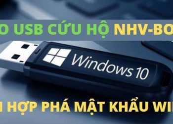 tao usb nhv boot cai win 10 gen 11