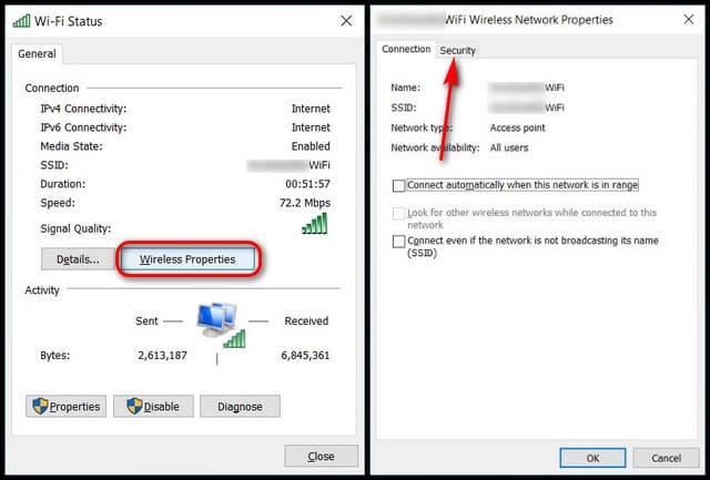 Cách xem lai mật khẩu WiFi đã lưu trong Windows 10 10