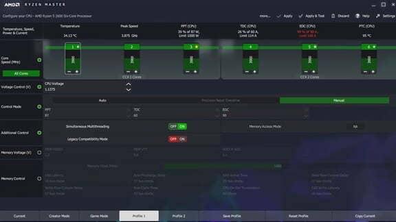 kiểm tra mức xung khi ép xung AMD