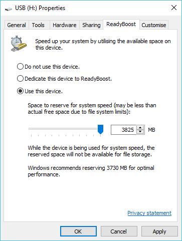 Tăng tốc Windows tính năng ReadyBoost bằng USB