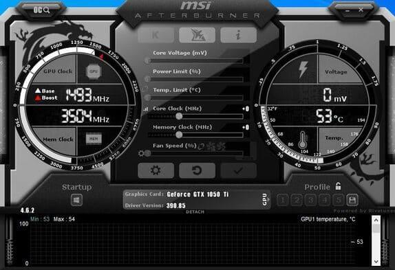 MSI Afterburner phần mềm ép xung cpu tốt nhất