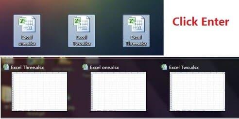 Mở cùng lúc nhiều file Excel