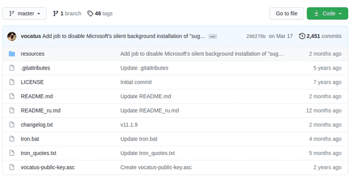 Tron: Dọn dẹp & tiêu diệt tất cả phần mềm độc hại trên Windows