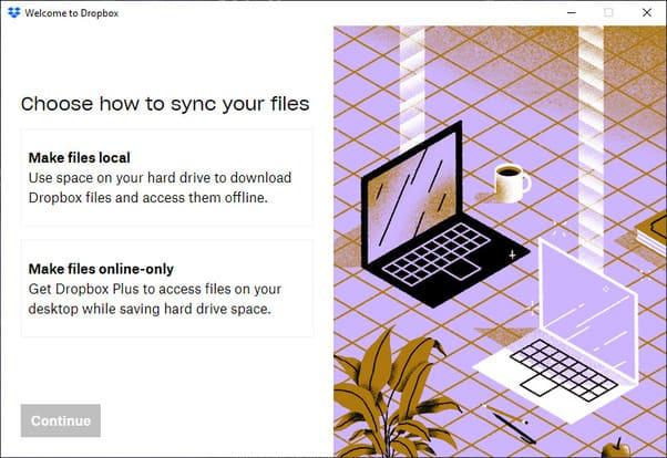 lưu windows online trên Dropbox