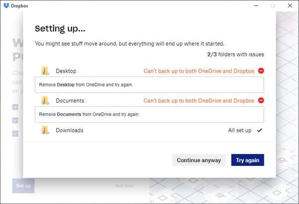 đồng bộ dữ liệu windows 10 vào dropbox