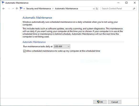 Bật bảo trì Windows tự động