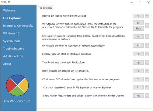 Các công cụ sửa lỗi Windows 10 miễn phí và tốt nhất 6