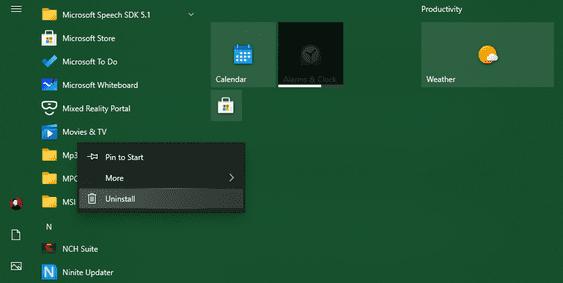 xóa Bloatware của Windows 10