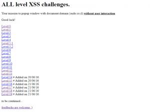XSS Challenges by nopernik