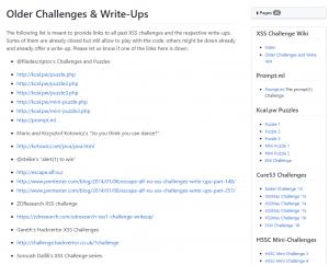 cure53 XSS Challenge Wiki