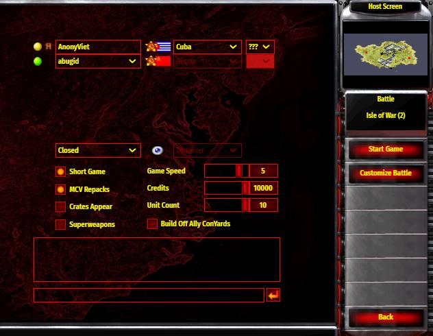 cách chơi ra2 trên web