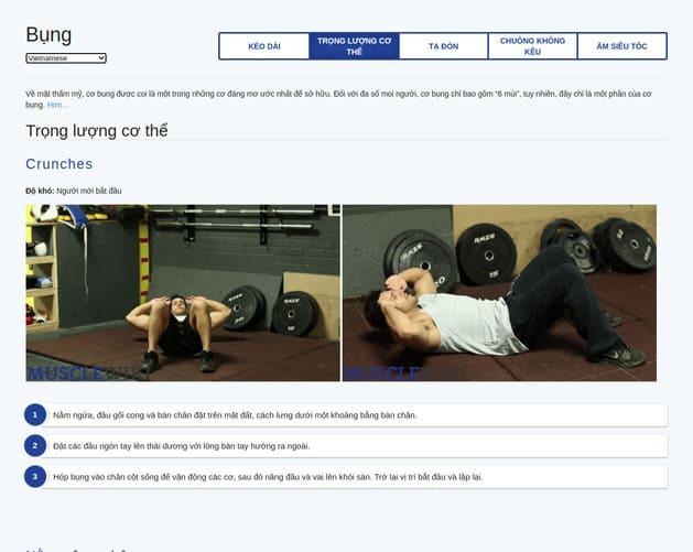 MuscleWiki: Trang web giúp bạn chọn bài tập Gym theo nhóm cơ 10