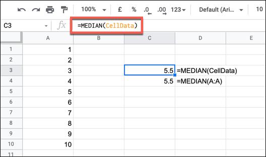 Sử dụng Name Range trong Google Sheet